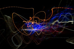 272/366 - Signature... (Sinuh Bravo Photography) Tags: canon eos7d potd2016 ayearinphotos longexposure lightstream colors nightshot abstract blue yellow red black