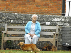 Salisbury Cathedral grounds 2016 (Sweet Mango 1965) Tags: salisbury cathedral 2016 candid lady sitting grounds bench wiltshire