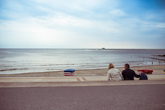 endless view. (Paul Reusch) Tags: borkum northsea endless view nikon sigma art 35mm lookslikefilm stayandwander availablelight agameoftones water ocean couple