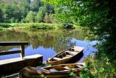 Boote (ivlys) Tags: germany allemagne deutschland bayern ilz fluss river boote boats landschaft landscape nature ivlys