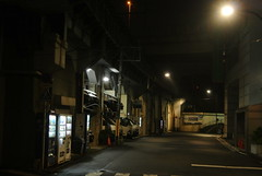 tokyo5952 (tanayan) Tags: urban town cityscape tokyo japan nikon j1  night view hyogoku  jr sobu overpass