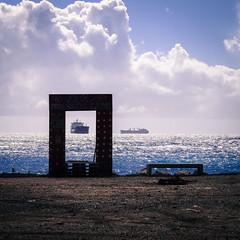 A framed boat
