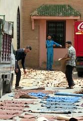 morocco (gerben more) Tags: people man men leather work beard workers morocco marrakech marrakesh marokko workman
