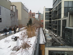 High Line Snow Covered Railroad Overpass Tracks to Nowhere 8374 (Brechtbug) Tags: road park street new york city nyc railroad winter urban snow streets west art architecture garden way design march high downtown gallery path walk manhattan district balcony packing side nowhere tracks overpass rail pedestrian mini el meat line midtown covered mezzanine transportation boardwalk former elevated blizzard derelict reclamation highline skyway redesign the remodeled 2015 03072015