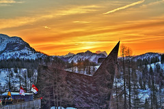 Sonnenaufgang (Lukas Plewnia) Tags: schnee winter snow austria sterreich berge kalt hdr steiermark styria nieg ta