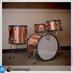 #Repost @sordociego with @repostapp.・・・I saw these on @revival_drum instagram and ordered them right away. I've never seen copper shells before. Made by @qdrumco