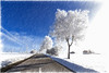 Winter Impression (Martin Zurek) Tags: road blue white cold tree nature landscape bavaria sketch smörgåsbord irsee trolled