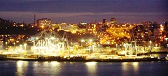 Port Panoramama (bluesbro20032003) Tags: night port lights harbor auckland shipping freight containers