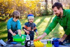 team dishwashing (Heather Bowman) Tags: camping vacation oregon river fletcher table picnic dish luke wash porter johnday