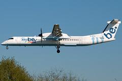 G-ECOJ FlyBE Bombardier Dash 8-Q400 Southampton Eastleigh (rmk2112rmk) Tags: plane airport aircraft aviation dash southampton sou airliner airliners dash8 bombardier eastleigh flybe civilaviation eghi 8q400 gecoj