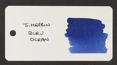 J. Herbin Bleu Ocean - Word Card
