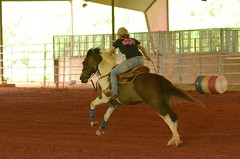 Blowing It Out (Get The Flick) Tags: horse arena rider barrelracing barnesvillega flintriverarena