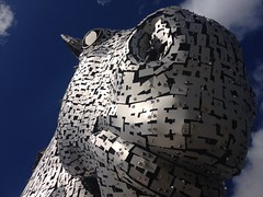 The Kelpies (Ulleskelf) Tags: sculpture grangemouth falkirk andyscott forthandclydecanal horsesculpture thehelix kelpies