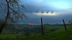 Morgenstimmung (Erich Hochstöger) Tags: morning sky mountain sunrise landscape lumix austria österreich himmel hills panasonic berge landschaft sonnenaufgang morgen niederösterreich hdr loweraustria mostviertel alpenvorland fz150 hügelland