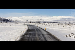 On the Road in Iceland (JoshJackson84) Tags: road snow ice tarmac drive iceland europe driving snowy icy canon60d sigma18250mm