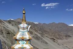 a stupa at thiksay monastery, ladakh (thupstan_rin) Tags: landscape stupa spirituality himalaya ladakh mountainscape northindia tibetanbuddhism anotherplanet littletibet incredibleindia thelastshangrila landoflama induavalley thelastparadise brokenmoonland