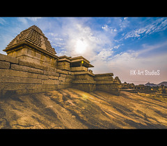 Cities are the greatest creations of humanity! (@K-Art StudioS) Tags: street old travel blue light sun india building architecture night ancient rocks journey kart kc chennai tamil tamilnadu hampi karthik chalukya karthikc ancinet incredibleindia dynesty kartstudios karthikchandrasekar