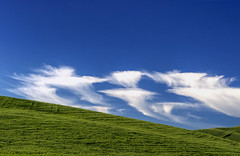 Please welcome the day-time ghosts! (Explore) (waldo.posth) Tags: blue sky green clouds washington butte state g sony 100mm hills ii ghosts ssm palouse steptoe f456 70400mm slta99v