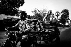 On the road (Stan Noodlesen) Tags: road street travel blackandwhite bw monochrome asia cambodia fuji candid fujifilm southeast fujinon 18mm fujix xpro1 18mmf2