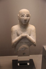 Limestone statue of Satam, Early Dynastic Period III, c. 2400 BC (Gary Lee Todd, Ph.D.) Tags: france louvre paris ancient neareast
