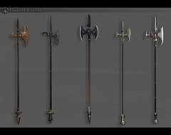 Arthurian Polearms - Camelot Unchained MMORPG (JamesGoblin) Tags: team teamplay screenshot videogame game medieval entertain darkageofcamelot daoc entertainment fun computers cyberculture fantasy sandbox multiplayer markjacobs crowdfunding kickstarter games online onlinegames videogames gaming proceduralgeneration pvp procedural computer pc rpg mmorpg mmo poster art unchained camelot camelotunchained roleplay roleplaying play concept conceptart weapon arsenal weaponry polearms polearm