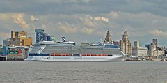 Celebrity Silhouette (MT) (Kay Bea Chisholm) Tags: seacombeferry water liverbuilding threegraces pierhead liverpool ship cruise rivermersey celebritysilhouette