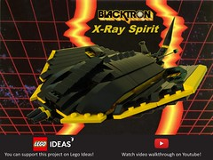Blacktron X-Ray Spirit (yetanothermocaccount) Tags: lego classic space moc blacktron b2 spirit ray tie fighter stingray