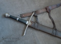 Mercenary's equipment - The scabbard for a sword (SvetliySudarWorkshop) Tags: brown leather design costume craft custom aging larp mercenary svetliysudarworkshop