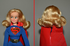 Ideal Vintage Supergirl Hair Fix (trev2005) Tags: vintage ideal supergirl super queens comic heroines action figure misty posin queen comicheroines captainaction dccomics idealmisty posing doll actionfigure