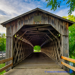 100 Days of Summer #73 - Covered Bridge (elviskennedy) Tags: 100daysofsummer 1424 a7r a7rii a7rm2 aging antique automobile blue bridge byways cedarburg covered coveredbridge elvis elviskennedy final green hdr highdynamicrange highways kennedy landscape last milwaukeeriver nikon oczaukeecounty old outside overpass ozaukee pine rafters retired sony thenandnow tourist trails tunnel walkingpath wi wisconsin wood wooden wwwelviskennedycom