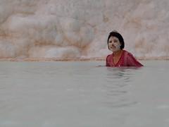 Mineral mask (PhotoSebastian) Tags: turqua turkey pamukkale fashion cosmetic mineral mask swimmingpool
