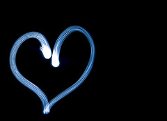 Light Painting - Love Heart (Caramel Kisses Photography) Tags: lightpainting loveheart heart love electricblue studio canon slowshutter darkness