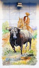 Azulejos. Taberna La Tienta (Madrid) (Juan Alcor) Tags: azulejos taberna latienta toro garrochista madrid cmespantaleon