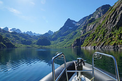 Trollfjorden (Kjersti Nybakke) Tags: trollfjorden lofoten lofotenislands summer norway nature north fjord mountains mountain sky sun sea water boat rib landscape view outdoors outside outdoor nordland kjerstinybakke