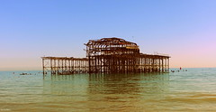 Skeleton of the palace Pier (BE'N 59. Street photographer) Tags: palacepier pier brighton
