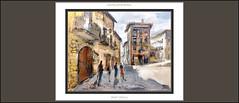 CASTELLAR DE N'HUG-PINTURA-PLAA MAJOR-BOTIGUES-HOSTAL-PAISATGES-POBLES-BERGUED-CATALUNYA-PLAA-PINTURES-ARTISTA-PINTOR-ERNEST DESCALS (Ernest Descals) Tags: castellardenhug pintura pinturas pintures quadres cuadros cuadro oleo oleos pintar pintando bergued barcelona catalunya catalua catalonia pobles village poble montaa pueblo pueblos montanyes paisatge paisatges landscape rural rurales landscaping pictures paint arte artwork art paisaje paisajes botigues tiendas hostal hostales plaamajor casas cases piedra paintings painting painter painters pintor pintores ernestdescals plastica plasticos personas movimiento luces sombras profundidad artistas artistes artist artista antiguos ancient