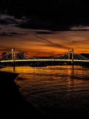 DSCF3707 (Cproland1986) Tags: london uk thames battersea bridge sunset clouds