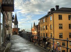 streets in Slussen Stockholm (neilalderney123) Tags: 2016neilhoward stockholm slussen sweden landscape cityscape olympus omd