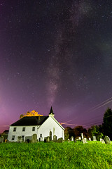Starry Night Above a Small Town Maryland Church (Stephen Brown - smb51095) Tags: maryland church architecture night stars star sky skies astrophotography astronomy milky way milkyway galaxy galaxies nikon d7200 nikond7200 nikondslr graveyard graves grass dark white landscape usa united states america unitedstatesofamerica unitedstates smalltown small town local rural farmland nights wide angle wideangle seminary churches spire tower religious religion god beautiful beauty natural nature summer spring