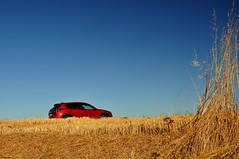 (Martin PEREZ 68) Tags: red rouge rojo campagne campo countryside t verano summer summertime yellow jaune amarillo bleu blue azul car voiture coche automobile mazda cx5