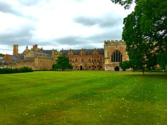 Bishops Palace Wells (heathernewman) Tags: outdoors cloudy grass croquetlawn trees green somerset sky bishopspalace palace city wells