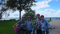 (sfrikken) Tags: lynne linda madison deb bike bicycle susan lake mendota tenney park jetty locks