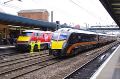 180105 at Doncaster (stephen.lewins (1,000 000 UP !)) Tags: class180 180105 railways doncaster ecml grandcentral