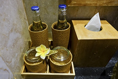 Bottled water in the room (A. Wee) Tags: sankara resort hotel  ubud bali  indonesia  bottle water