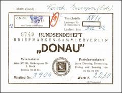 5121 T Rundsendeheft Briefmarken Sammlerverein Donau Wien 1580n 9749 Wien XV 101 Hackengasse (Morton1905) Tags: 5121 t rundsendeheft briefmarken sammlerverein donau wien 1580n 9749 xv 101 hackengasse