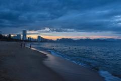 Blue sunset (MicheleSana) Tags: vietnam nikon d3300 summer estate trip viaggio 2016 asia colors colori scatto shoot blue sunset tramonto blu nha trang citt city mare sea spiaggia beach nuvole cloudy clouds
