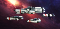 System Patrol Group 37 of Her Majesty's Navy (Rphilo004) Tags: lego microscale microspace spacecraft spaceship space fleet royal navy