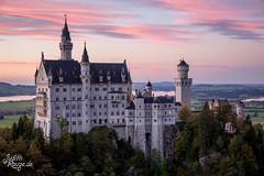 Cliché Picture (judithrouge) Tags: schloss castle neuschwanstein germany deutschland bayern bavaria abendrot abendlicht sonnenuntergang cliche kitsch märchenhaft picturesque malerisch