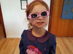 Trend Setter! (Helen Orozco) Tags: sunglasses fashionista mariaantonia upsidedown peppapig granddaughter family