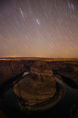 Horseshoe Bend Night-5 (brendanvanson) Tags: travel arizona usa nature night america stars landscape williams unitedstates page northamerica startrails horseshoebend